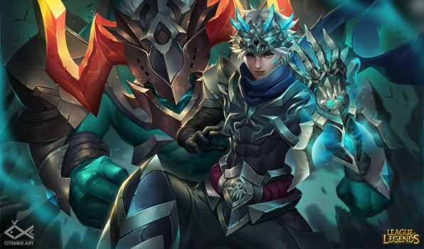 Hell walker Ezreal and Alistar by citemer