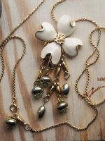 Golden Flower Showers Necklace by Multiplicity-of-Self