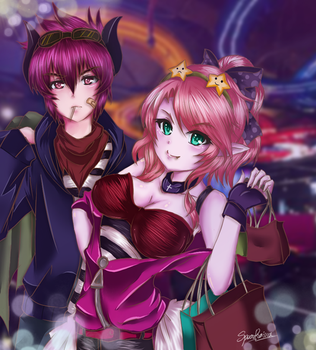Grand Chase Dio x Ley (Contest Thai) by SpearRainz