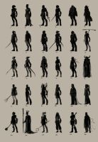 male character thumbnails by SnakeToast