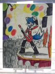 Twitch The Blue Fox: Rockin' Out! Contest Entry by RandomlyCorrupted
