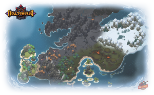 Dungeons. Global Map by Gimaldinov
