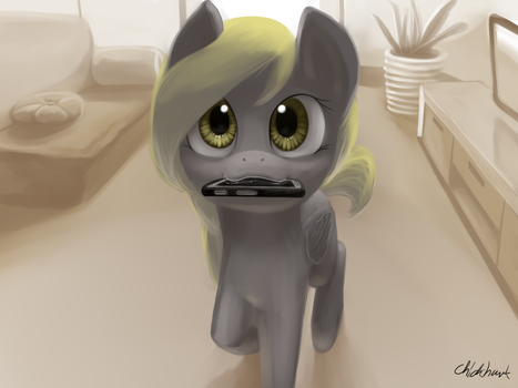 Get Me My Phone Derp by Chickhawk96