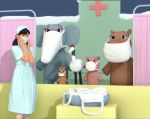 The sick animals and nurse by Whitecloth