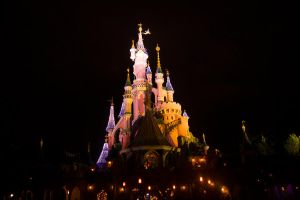 Disney Castle At Night by CauterizeSetsFire