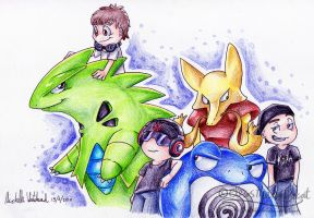 Dylan and co's pokemon by mmishee