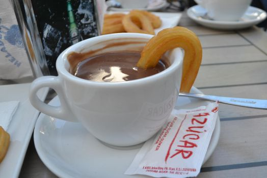 Churros and Hot Chocolate by Turquoiseboots
