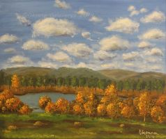 Autumn River - oil by Oksana007
