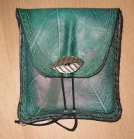 Square belt bag leaf printed by akinra-workshop