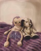 Toy Still Maggie and Dog by Artlyss