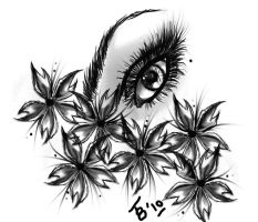 Tattoo design: Sakura-Eye by TobiasRosetta