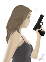 Portrait of Summer Glau. by perdita00