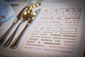 Wedding graphic - menu by petrsimcik