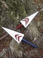 Princess Mononoke Spear and Dagger by meanlilkitty