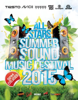 Summer Sound Music Festival Flyer by inddesigner