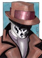 Rorschach II - Sketch Card by J-Redd