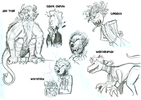 Monster Compz Sketches by hankinstein