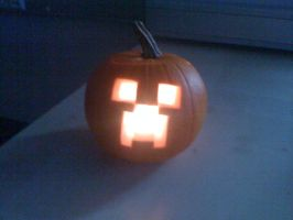 Creeper Jack o Lantern by Slousberry