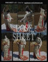 POSE SHEET 1 of 2: Geisha Fan by AngelaSasser-stock
