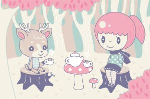 Forest Tea Party by Meloedy
