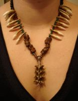 Snake bone necklace by missmonster