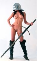 Nude girl with sword 3 by HotMedievalBabes