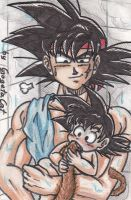 K-Card No. 05 Bardock and Kaks by XxGogetaCatxX