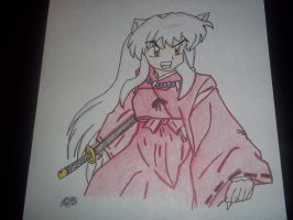 InuYasha grrr.... by sonic4568