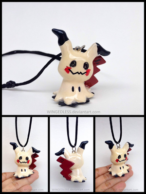 Pokemon - Mimikyu Charm Necklace ( Mimikkyu ) by WINGEDLESS