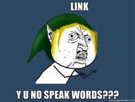 Y U NO LINK? by Oneofwind
