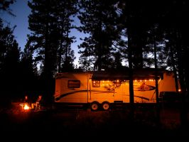 Twilight Travel Trailer by boxcamera