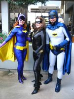 DragonCon '12 - Batgirl, Catwoman, Batman by vincent-h-nguyen