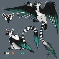 Flying Lemur - Design by MizAmy