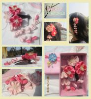 Order: trio ume kanzashi by CovenEye