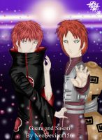 Gaara and Sasori by Neo-CriminalBlueRose