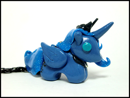 Princess Luna Necklace by GrandmaThunderpants