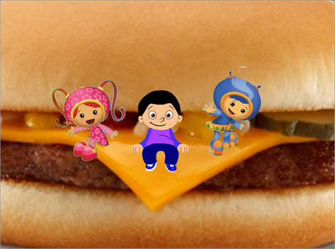 Eithan Milli and Geo are having a cheeseburger by PrinceEithan28
