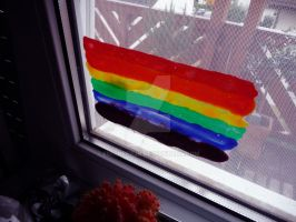 Rainbow on my window by engineerJR
