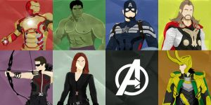 Avengers panels by Mr-Saxon