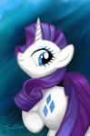 Portrait: Rarity by SynCallio