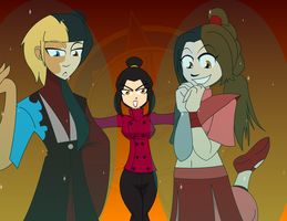 Convention Girls - Team Azula Formed by Dragon-FangX