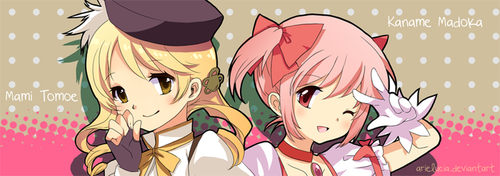 Mami and Madoka by arielucia