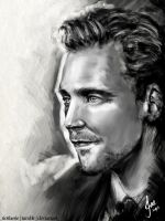 Tom Hiddleston by riotfaerie