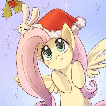 Christmas Fluttershy for Inosss by keterok