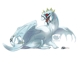 Babby Dragon Commission - Whitewing by OuttatheBlueSkye
