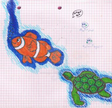 Fish and Turtle by WoundedSoul99