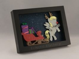 Happy Holiderps! Derpy the Red-Nosed Pony by elathera