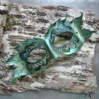 Leather Bird or Elf Mask by Beadmask