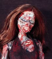 Zombie Barbie with Display Stand Anatomically Corr by Undead-Art