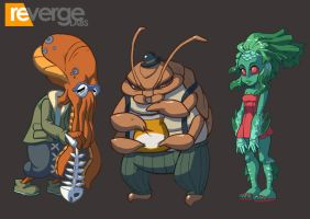 Skullgirls- Little Innsmouth NPCs by setsuna22